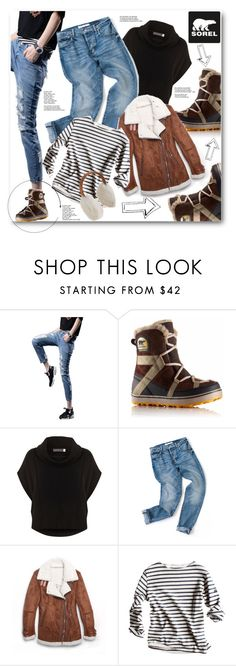 """Introducing the 2015 Winter Collection from SOREL: Contest Entry"" by anitadz ❤ liked on Polyvore featuring moda, SOREL, Mint Velvet, Relaxfeel i J.Crew"