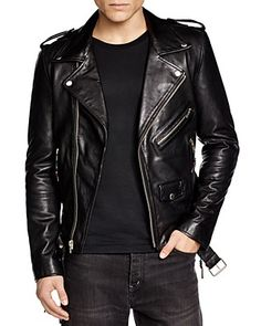 BLK DNM Leather Biker Jacket | Bloomingdale's