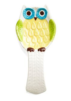 Owl the Fixins Spoon Rest. Hoots the gal hosting the best dinner parties around? #gold #prom #modcloth