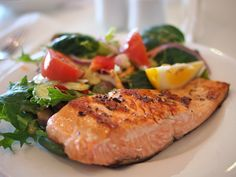 Healthy and delicious food: Salmon with omega 3