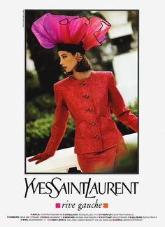 Christy for Yves Saint Laurent, photographed by Arthur Elgort, 1990.