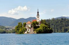 Lake Bled island with a church