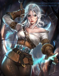 female anime character wallpaper The Witcher Wild Hunt fantasy girl Cirilla Fiona Elen Riannon video games