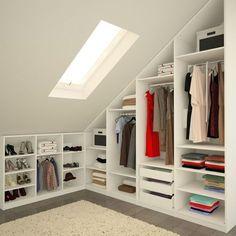 3 Grand Clever Hacks: Attic Bathroom Ideas attic renovation tips. 3 Grand Clever H Attic Master Bedroom, Attic Bedroom Designs, Attic Design, Attic Bathroom, Attic Rooms, Attic Spaces, Closet Bedroom, Diy Bedroom, Small Spaces