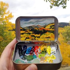 Tiny Landscapes Painted in Mint Tins by Artist Heidi Annalise - BOOOOOOOM! - CREATE * INSPIRE * COMMUNITY * ART * DESIGN * MUSIC * FILM * PHOTO * PROJECTS