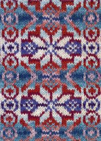 """Four Tops"" Fair Isle pattern   /  (SW: Use 1 complete set from pattern for hem & sleeve borders of a one-color sweater)"