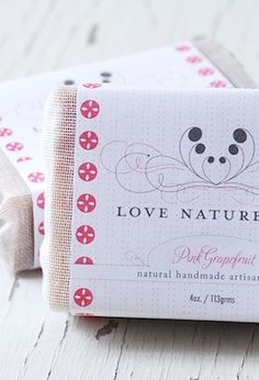 Soap package design by INK+WIT for Love Nature, NYC