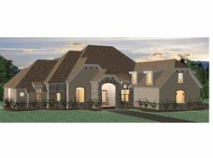 Eplans French Country House Plan - Three Bedroom French Country - 5119 Square Feet and 3 Bedrooms from Eplans - House Plan Code HWEPL68446