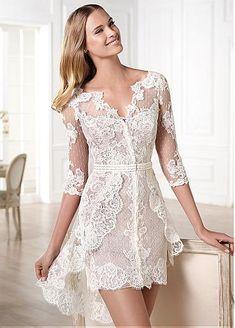 Short Waistline Wedding Dress For Your Summer Wedding