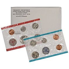 Coin Set: 1969 Various Mint Marks United States Mint P&D 11-Coin Uncirculated Coin Set In Original Government Packaging Uncirculated