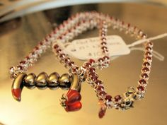 Red Droplets 24 Red Rhinestone Chain by hollyshobbiesncrafts, $10.00