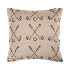 Printing On Burlap, Printed Burlap, Thema Golf, Golf Room, Master Room, Bedding Basics, Down Feather, Geometric Pillow, Bedding Collections
