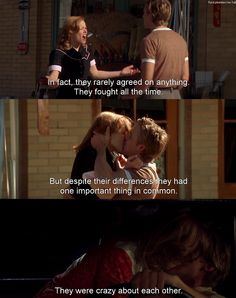 The Notebook. Reminds me so much of me and Paul. He was my first love and we've been together since I was 13 now I'm almost 20.