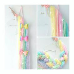 Excited to share this item from my shop: Rainbow unicorn hair bow holder, rainbow bedroom decoration, accessory holder, unicorn bedroom Cute Rainbow Unicorn, Unicorn Kids, Rainbow Bedroom, Unicorn Rooms, Organizing Hair Accessories, Diy Accessories, Unicorn Crafts, Unicorn Decor, Unicorn Wall Art