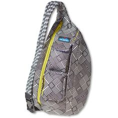 KAVU Rope Sling Bag ($50) ❤ liked on Polyvore featuring bags, handbags, shoulder bags, sling purse, pattern purse, print handbags, kavu and sling handbags