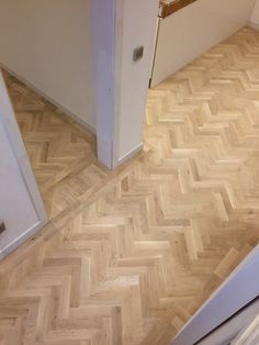 Installed an oak parquet floor in a Herringbone pattern. Finished with Bona traffic HD. Herringbone Tile Floors, Oak Parquet Flooring, Hall Flooring, Living Room Flooring, Herringbone Pattern, Wooden Flooring, Hardwood Floors, Concrete Wood Floor, Kitchen Cabinets Color Combination