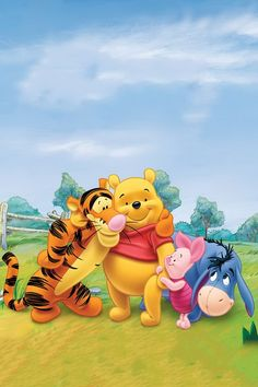 Tigger, Pooh, Piglet, and Eeyore