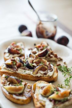Fig and Ricotta Bruschetta. #food #Italian #appetizers #lunch