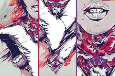 Illustrations '11 by Diego L. Rodríguez, via Behance