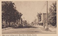 Blind River, Ontario, where Canadiens coach Claude Julien was born Street Look, Main Street, Ontario, Hockey Coach, Old Newspaper, Back In Time, Small Towns, Blind, Canada