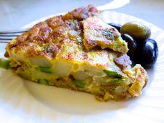 Spanish Asparagus & Potato Tortilla-- good start on a summer night picnic