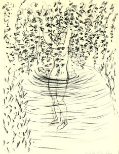 Bather with Leaves by Henri Matisse
