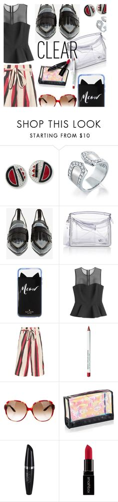 """CLeaR"" by stacey-lynne ❤ liked on Polyvore featuring Kenneth Jay Lane, Bling Jewelry, Jeffrey Campbell, Loewe, Kate Spade, McQ by Alexander McQueen, ace & jig, Obsessive Compulsive Cosmetics, Christian Dior and Benefit"