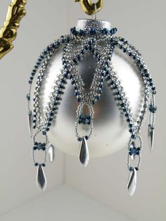 Beading Tutorial Simply Elegant Ornament by KellyWiese on Etsy