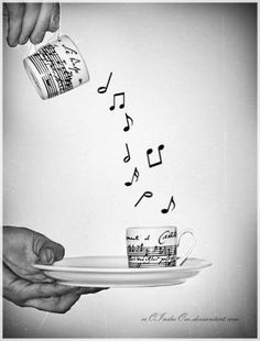 Yep coffee :) Its musical to all the senses hearing the coffee pot , smelling it brewing , and touching it to pour that cup of morning LIFE and Ahhhhh the TASTE, Yes :) Thank You Jesus ♡GOODMORNING Sound Of Music, Music Is Life, My Music, Sebastien Bach, Mundo Musical, Partition, All About Music, Music Stuff, Music Items