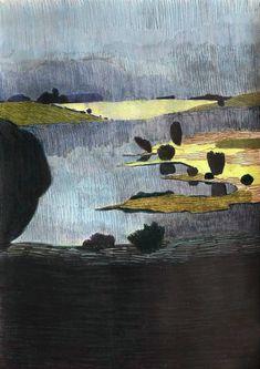 Landscape Drawings, Cool Landscapes, Landscape Art, Art Drawings, Artist Sketchbook, High Art, Fantasy Illustration, Art Studies, Illustrations