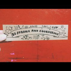 Be Strong and Courageous Laminated Bookmark... $1 @ www.etsy.com/shop/MarkHisWord