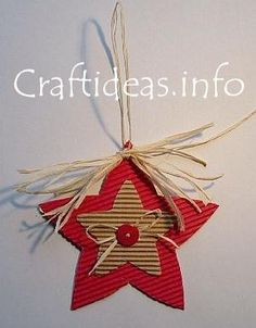 cardboard star ornament