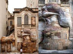 Brazilian artist Henrique Oliveira's incredible installations look like giant…