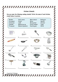 Kitchen Utensils worksheet – Free ESL printable worksheets made by teachers – Food: Veggie tables Life Skills Lessons, Life Skills Activities, Life Skills Classroom, Teaching Life Skills, Home Economics Classroom, Fun Activities, Classroom Ideas, Classroom Rewards, Worksheets For Kids