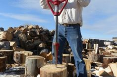 - GOOD N USEFUL worldwide industry leader in innovative log splitter - Dog tie out - Ground anchoring systems - winch anchor Made in USA Outdoor Food, Outdoor Life, Outdoor Gear, Hunters Cabin, Wood Jig, Slide Hammer, Knife Making Tools, Halfway House, Log Splitter