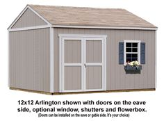 The Arlington makes the ideal backyard bungalow. With eight spacious sizes to choose from, The Arlington allows you to design the perfect garden storage solution, workshop, man cave, or she shed. Storage Building Kits, Storage Shed Kits, Wood Storage Sheds, Shed Building Plans, Diy Shed Plans, Built In Storage, Building Ideas, Garden Tool Shed, Garden Storage Shed