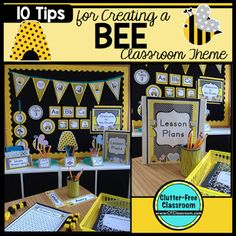 Are you planning a Bee Themed Classroom or thematic unit? This blog post provides great decoration tips and ideas for the best bee theme yet! It has photos, ideas, supplies & printable classroom decor to will make set up easy and affordable. You can create a bee theme on a budget!