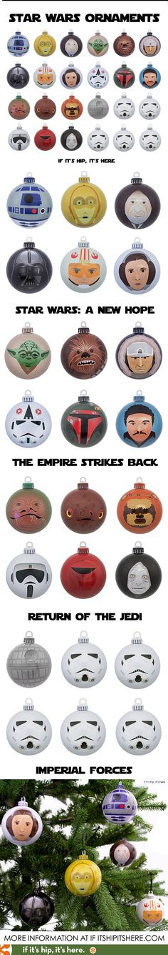 Finally! Star Wars Christmas ornaments with Design Appeal! #starwars