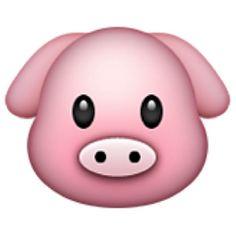 Pig Face Emoji (U+1F437/U+E10B)