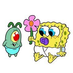 Kid Plankton and Baby SpongeBob Sticker - Sticker Mania
