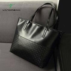 119.88$  Buy here  - HOT New Black Red Women's Bags Famous Brand Handbag Leather Lady Shoulder Bags Clutches Diagonal Mochila Messenger Casual Tote