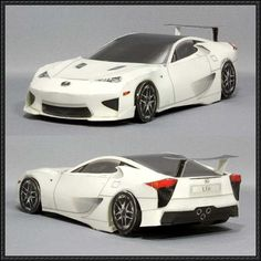 Image for New Paper Craft] Lexus LFA Paper Car Free Paper Model Download on