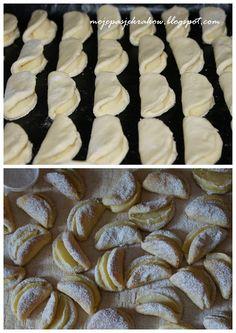 moje pasje: Uśmiechnięte ciasteczka serowe z jabłkiem Polish Desserts, Polish Recipes, Baking Recipes, Cookie Recipes, Dessert Recipes, Sweet Desserts, Sweet Recipes, Easy Blueberry Muffins, No Bake Cake