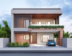Pin by herry on house design & floor plan современные дома, Bungalow Haus Design, Duplex House Design, House Front Design, Modern House Design, Front Elevation Designs, House Elevation, Modern Exterior, Exterior Design, Modern House Plans