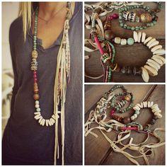 Boho EthnicHippie necklace Cowrie shell Wood by BeadStonenSkin Heart Jewelry, Tribal Jewelry, Bohemian Jewelry, Beaded Jewelry, Handmade Jewelry, Jewelry Shop, Jewelry Necklaces, Fringe Necklace, Boho Necklace