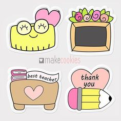 🤓🍎✏️ new cutters for Best Teacher, Teacher Gifts, Free Coloring, Coloring Pages, Scrapbook Recipe Book, Graduation Cookies, Dibujos Cute, Dog Cookies, Cute Clipart