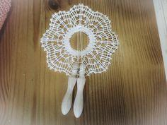 のんちゃんのヴィラドコンデ風1。ミニパリチキを飾って完成です。ステキに編めましたね。035/20160912