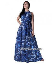 Cotton Dress Women Plus Sizes Clothing Long Maxi Dress Floral Maternity Dress Casual Beach Party Wedding Guest Blue Designer Summer Sundress