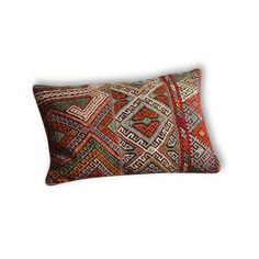 Housse de coussin en Kilim Turc Vintage #2 - Tissu - Bon état - Ethnique - 61725
