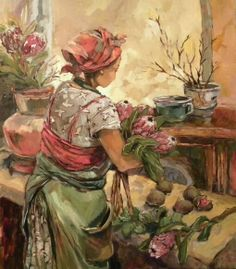 Aviva Maree. Saartjie Seisoen. Woman Painting, Artist Painting, Protea Art, African Paintings, Paintings I Love, Art Paintings, Cottage Art, South African Artists, Portraits